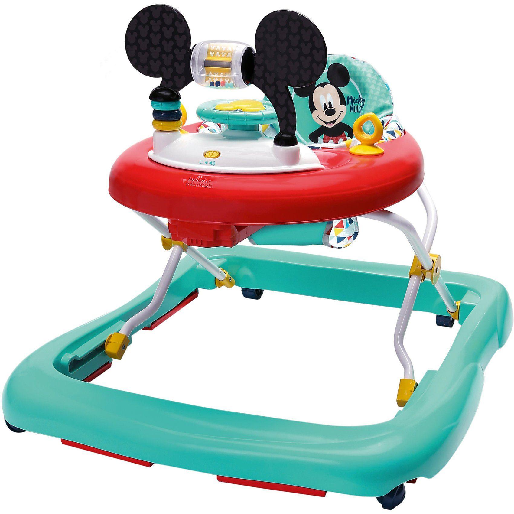 Kids II Lauflernhilfe Happy Triangles Walker™, Mickey Mouse, blau/ro
