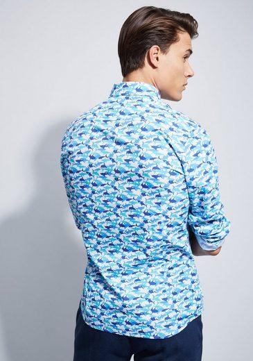 Otto Kern Hemd mit Allover Print - Slim Fit