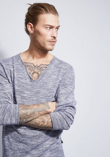 Otto Kern Melierter V-neck Pullover