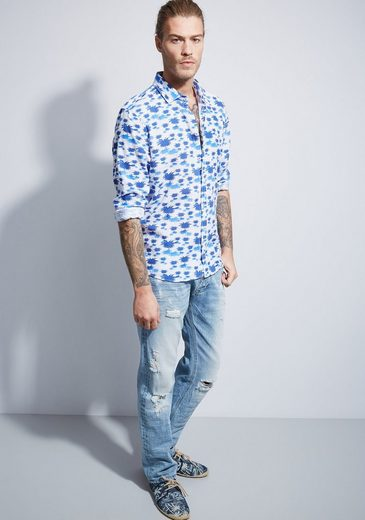 Otto Kern Hemd mit Allover-Print - Slim Fit