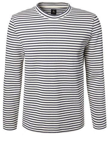 Otto Kern Sweat Pullover mit feinen Streifen
