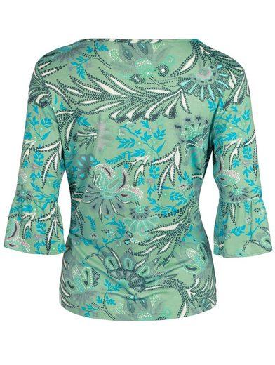 bianca V-Shirt EDIRA, mit hübschen Volant Ärmeln