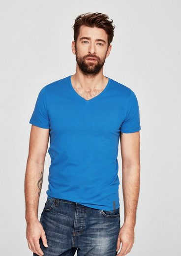 s.Oliver RED LABEL T-Shirt mit V-Neck