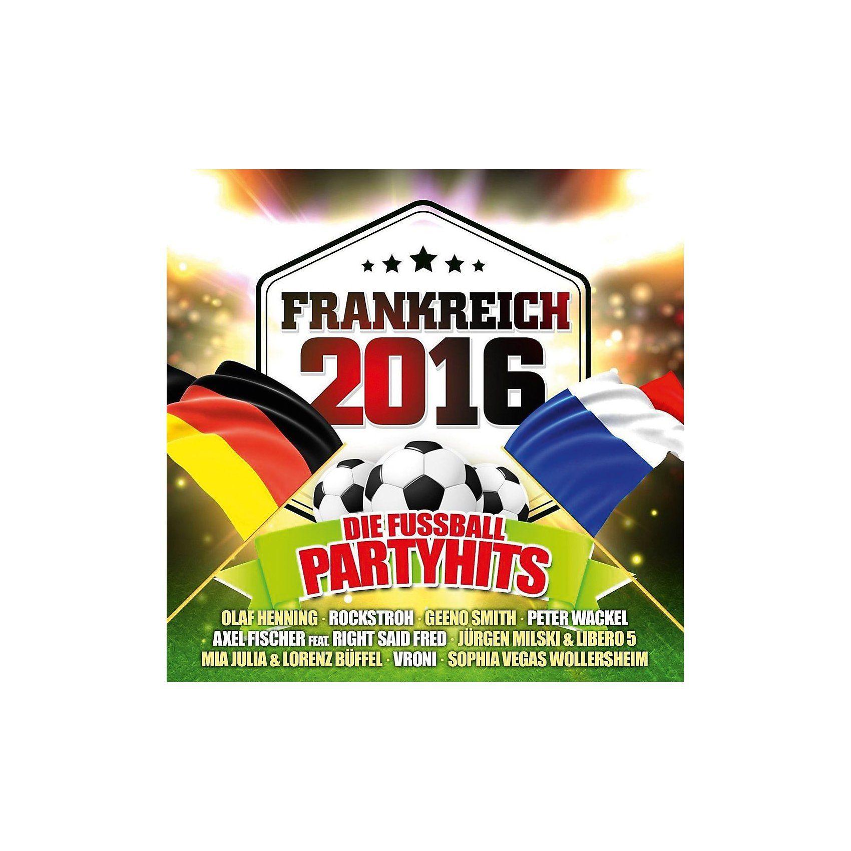 CD Frankreich 2016 - die Fußball Party Hits (2 CDs)
