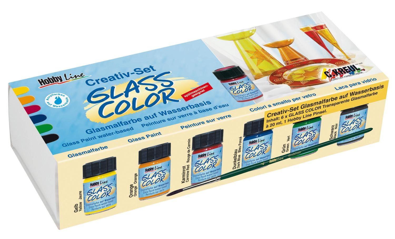 "Kreul Glassmalfarb-Set ""Creativ-Set Glass Color"" 6er-Set"