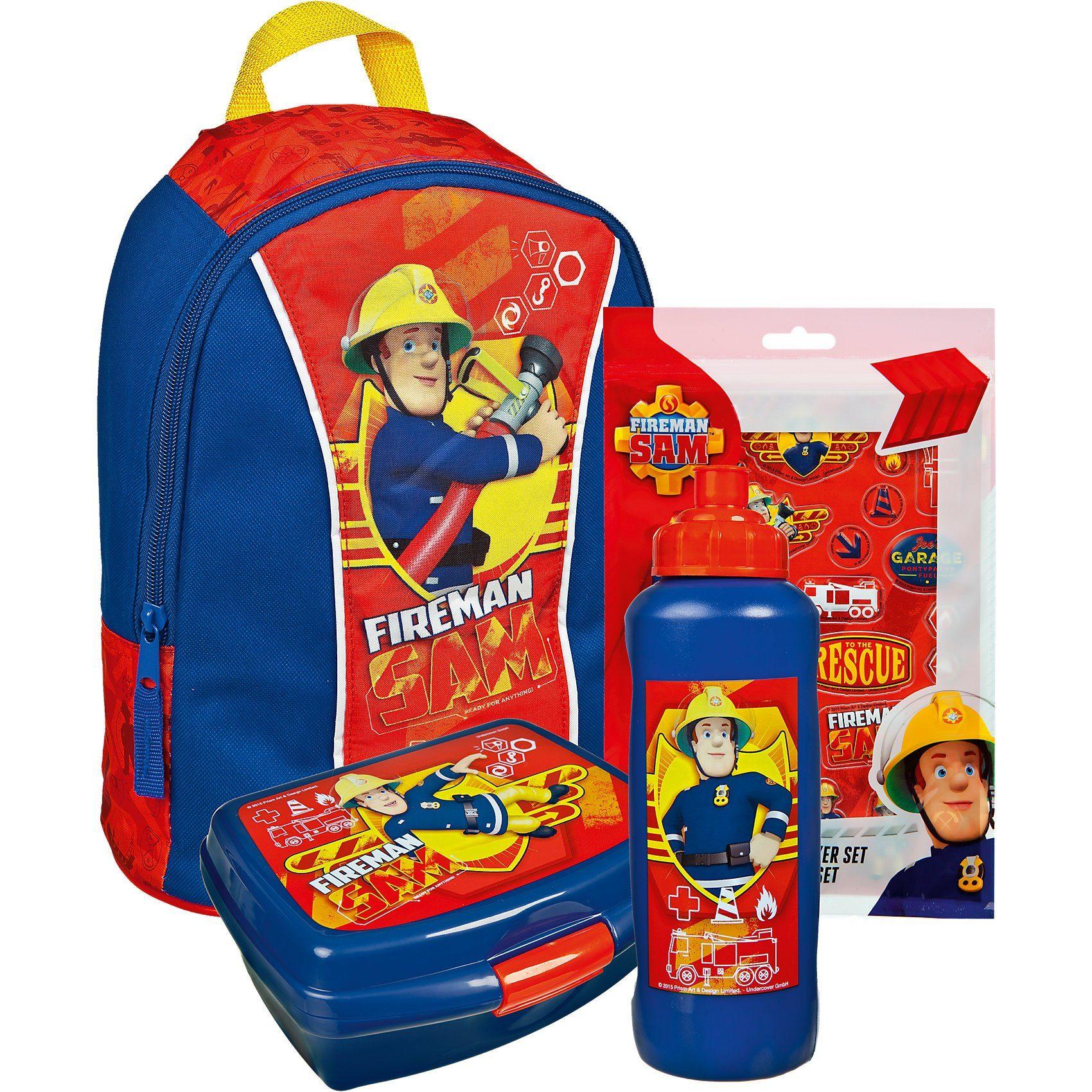 UNDERCOVER EXKLUSIV Kindergartenset Feuerwehrmann Sam, 4-tlg.