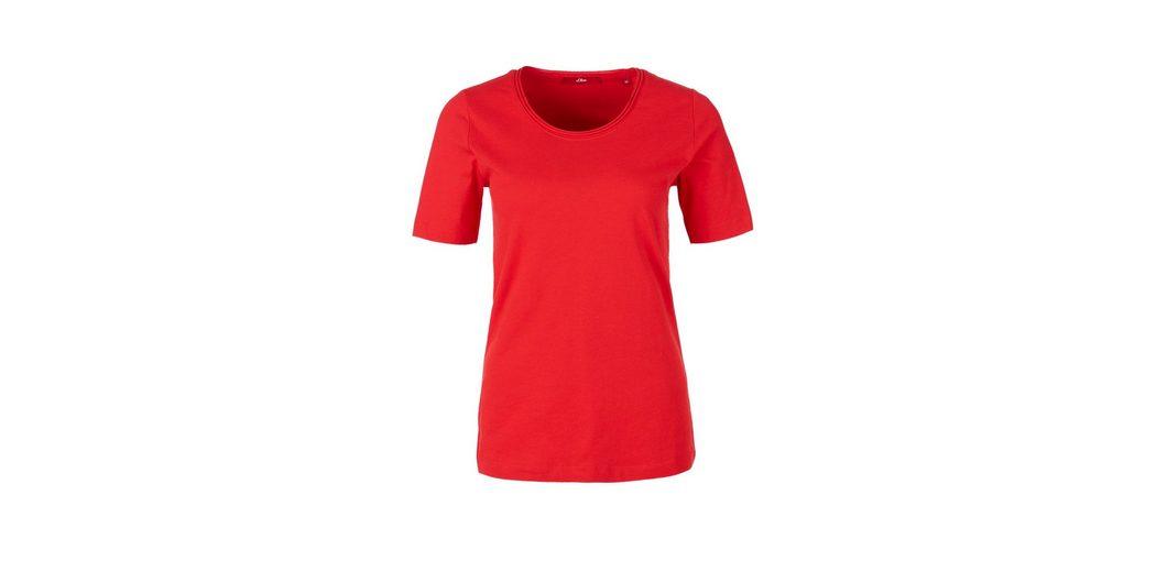 s.Oliver RED LABEL Crew Neck-Shirt mit Rollsaum Auslass Browse Modisch Günstiger Preis Manchester Großer Verkauf Günstig Online Ausgang Erhalten Authentisch u24qu5CtF