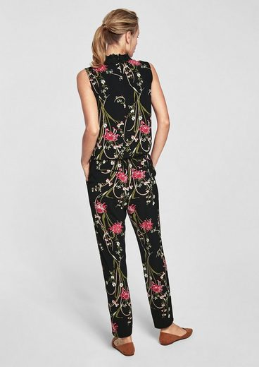 s.Oliver BLACK LABEL Jumpsuit mit Allover-Print
