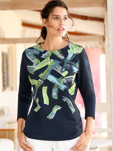 Dress In Fashionable Sweatshirt With Print Dessin