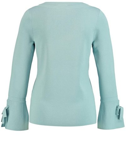 Gerry Weber Pullover Long Sleeve Crew-neck Sweater With Volant Sleeves