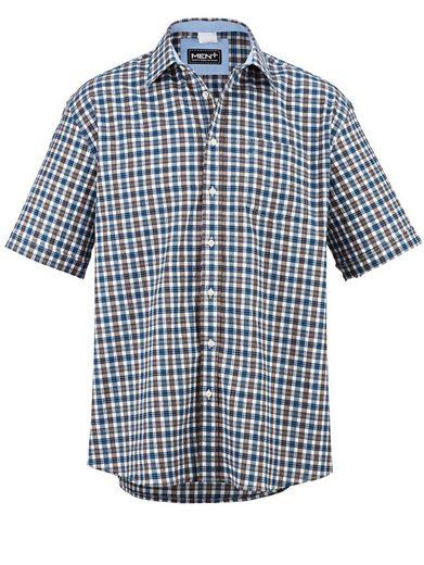 Men Plus by Happy Size Seersucker-Hemd