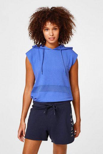 ESPRIT Weiche Sweat-Shorts mit glänzendem Logo-Print