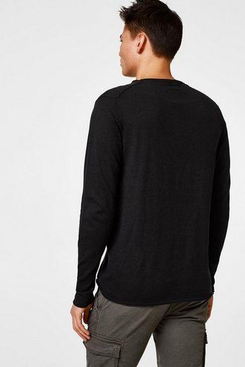 EDC BY ESPRIT Sportiver Sweater aus Baumwoll-Feinstrick