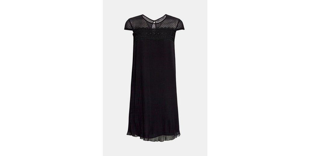 Hyper Online Billig Günstig Online ESPRIT COLLECTION Plissee-Kleid mit zarter Häkelspitze LUKAf5