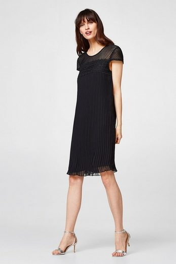 Esprit Collection Pleated Gown With Delicate Crocheted Lace