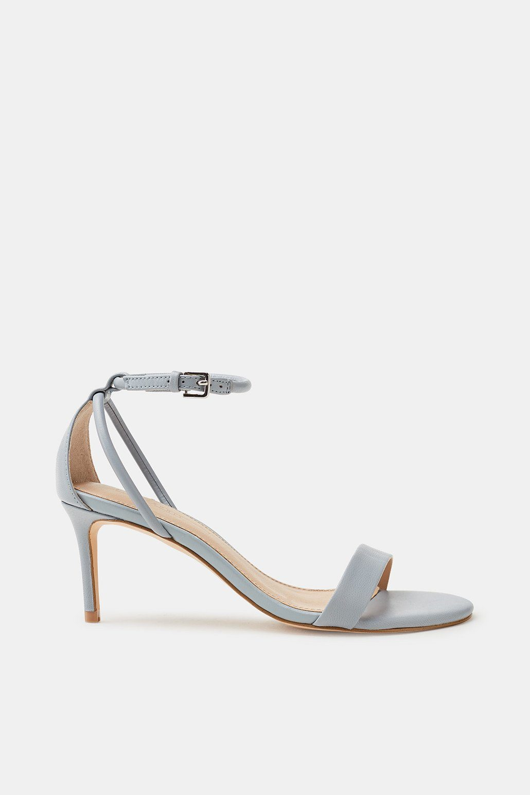 Esprit ESPRIT Elegante Sandalette aus Leder, weiß, WHITE