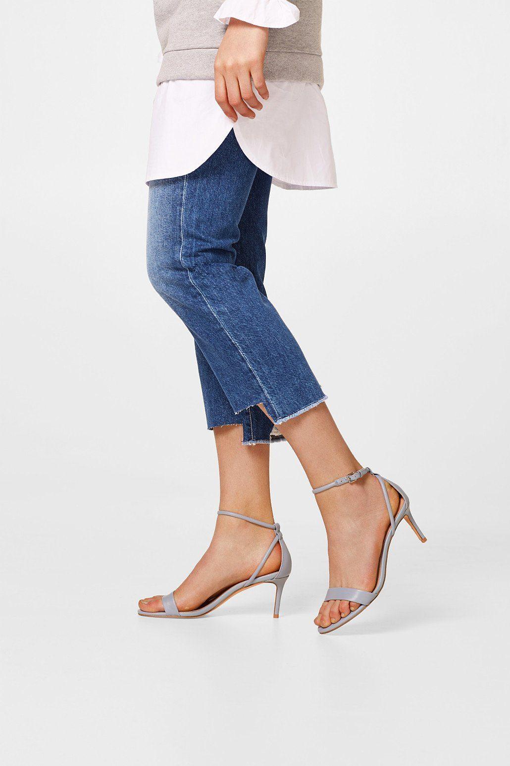ESPRIT Elegante Sandalette aus Leder online kaufen  LIGHT BLUE