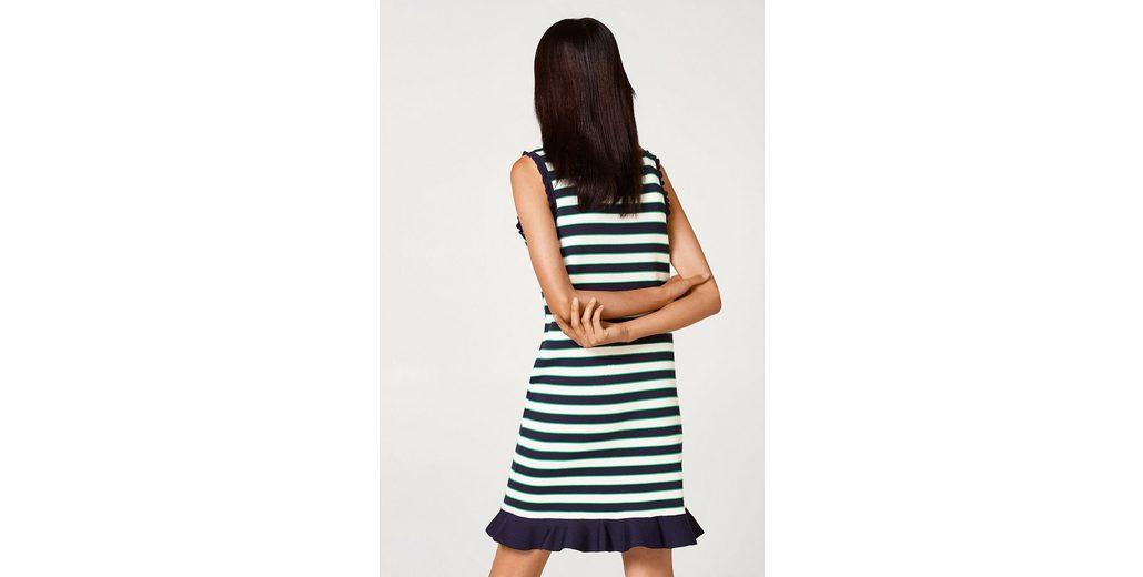Spielraum Bilder ESPRIT Ringel-Kleid aus dichtem Feinstrick mit Volants Outlet Online Bestellen Perfekt Günstig Online Rabatt Neue Ankunft Rabatt Billigsten XWTEdV