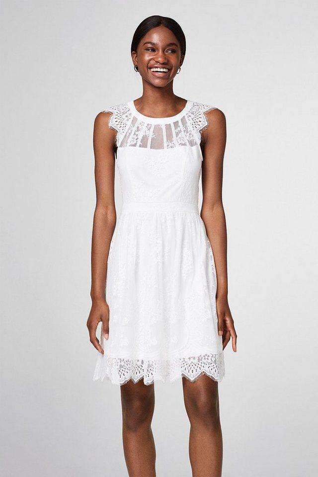Esprit Collection Kurzes Brautkleid aus floraler Spitze online ...