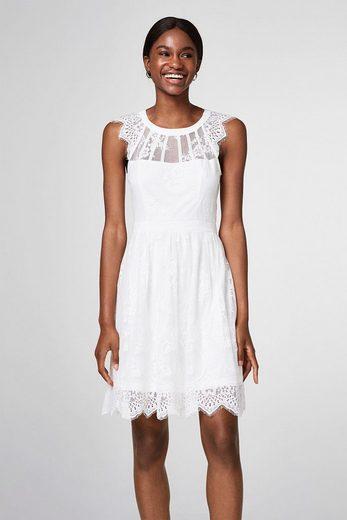 ESPRIT COLLECTION Kurzes Brautkleid aus floraler Spitze