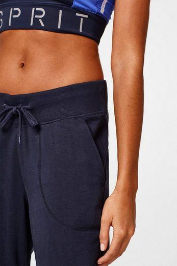 ESPRIT Leichte Sweat-Pants mit glänzendem Logo-Print