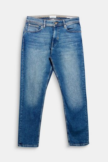 Esprit Stretch Jeans With Light Washing And Used-effects