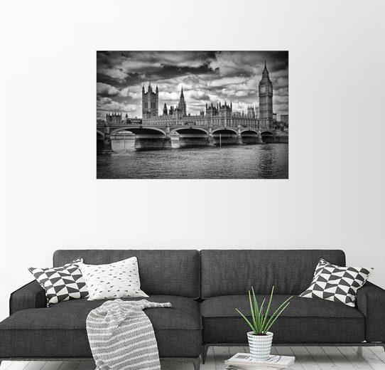 Posterlounge Wandbild - Melanie Viola »LONDON Houses of Parliament & Westminster Bridge«