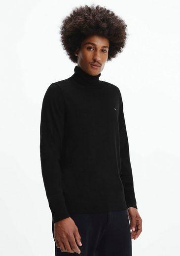 Calvin Klein Rollkragenpullover »SUPERIOR WOOL TURTLE NK SWEATER« mit hohem Rollkragen