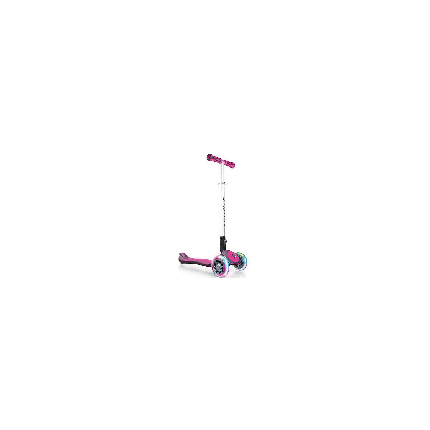 Globber Scooter Elite lights pink, klappbar