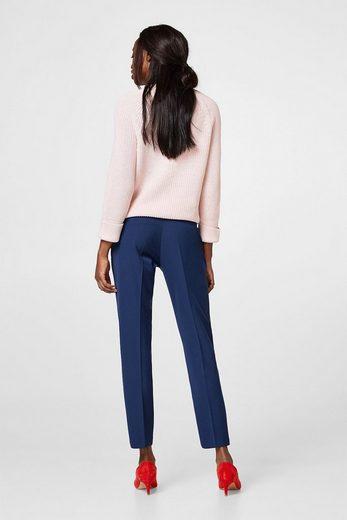 ESPRIT Stylische Stretch-Hose mit Paperbag-Bund