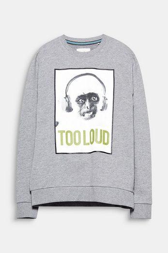 EDC BY ESPRIT Meliertes Sweatshirt mit ironischem Foto-Print