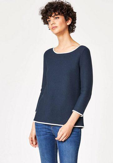 HALLHUBER A-Linien-Pullover mit Rückenschleife