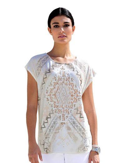 Alba Moda Druckshirt mit außergewöhnlichem Ethno-Motiv