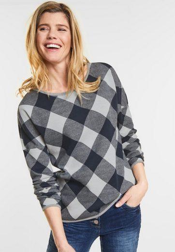 Cecil Sweatshirt Im Karo-design