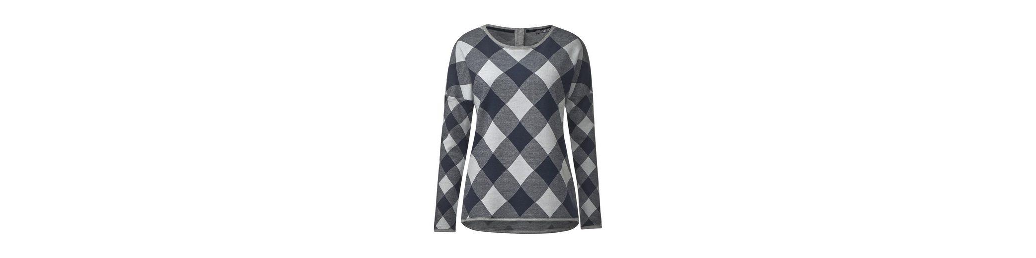 CECIL Sweatshirt im Karo-Design Steckdose Billig Authentisch MfakXTPaa