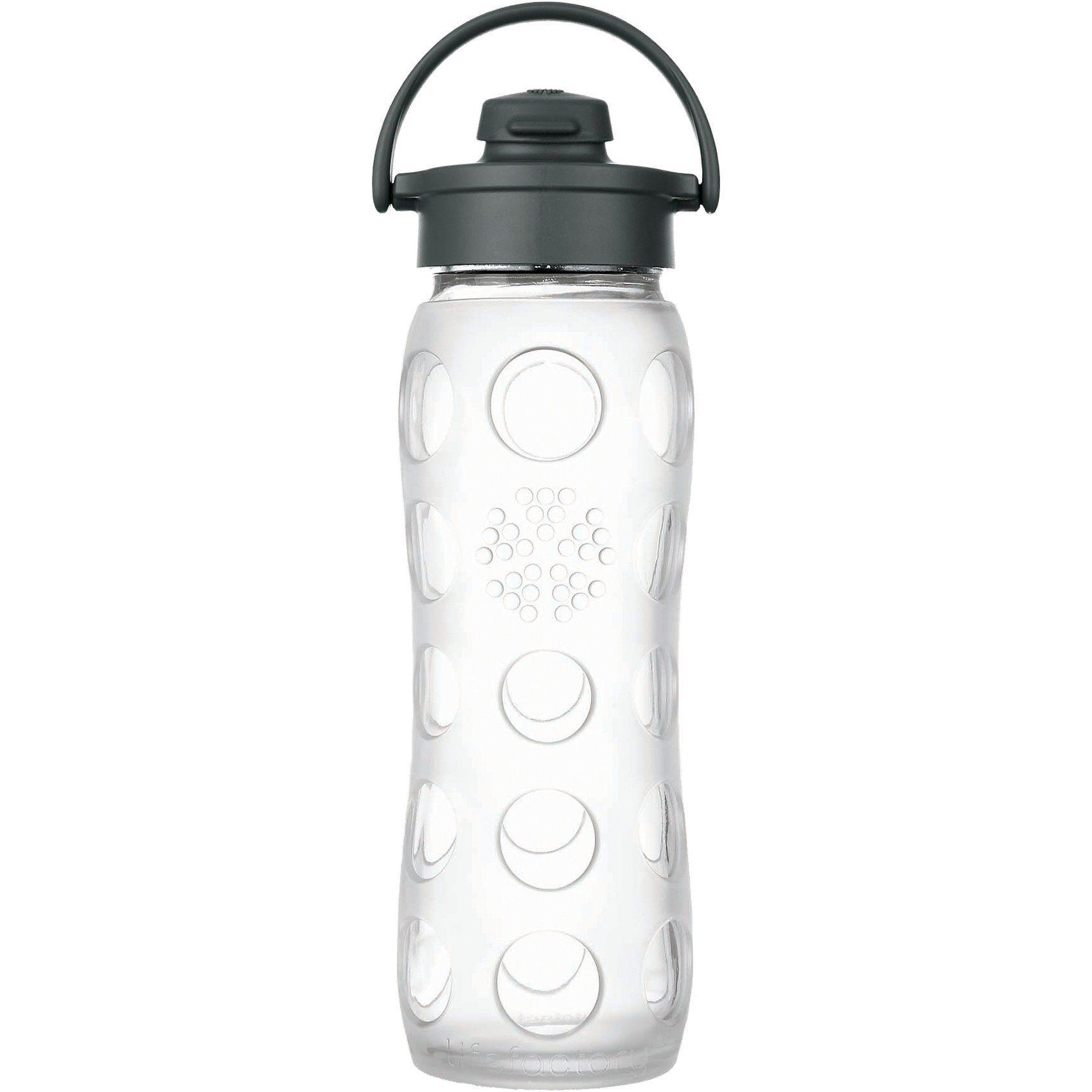 Lifefactory Trinkflasche Glas Transparent Flip Top Cap, 650 ml