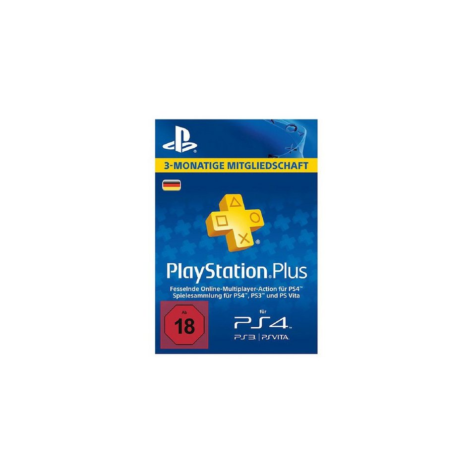 sony ps4 playstation plus live card 90 tage otto. Black Bedroom Furniture Sets. Home Design Ideas
