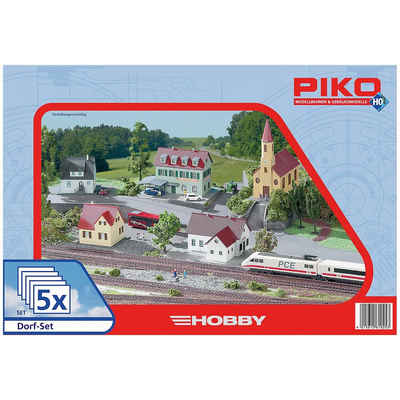 PIKO Modelleisenbahn-Set »PIKO Spur H0 Dorf-Set, 5tlg.«