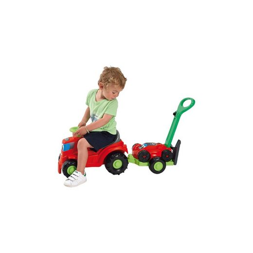 Ecoiffier Kindertraktor mit Anhänger Rasenmäher