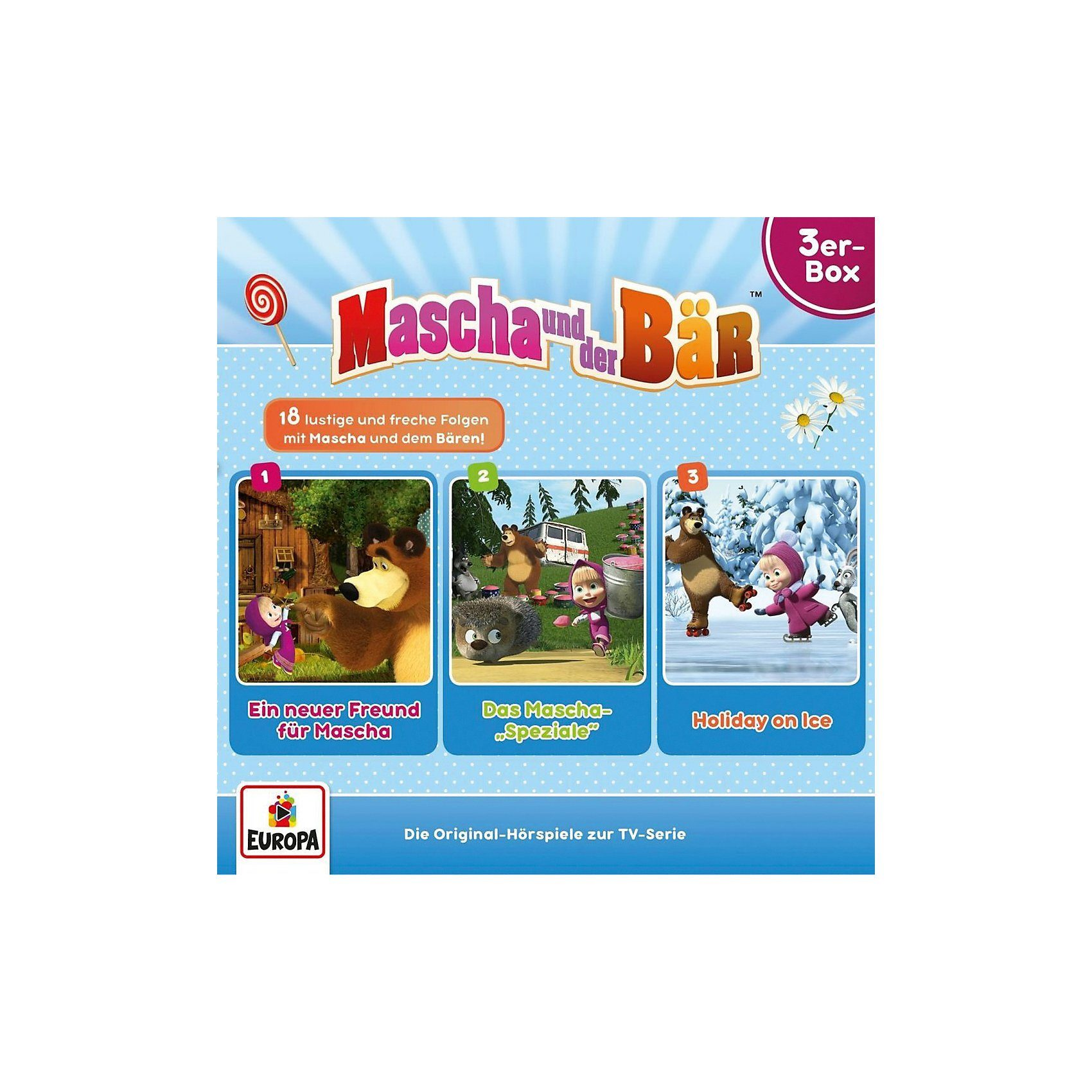 Sony CD Mascha und der Bär 01/ 3er Box (Folgen 1,2,3) (3 CDs)