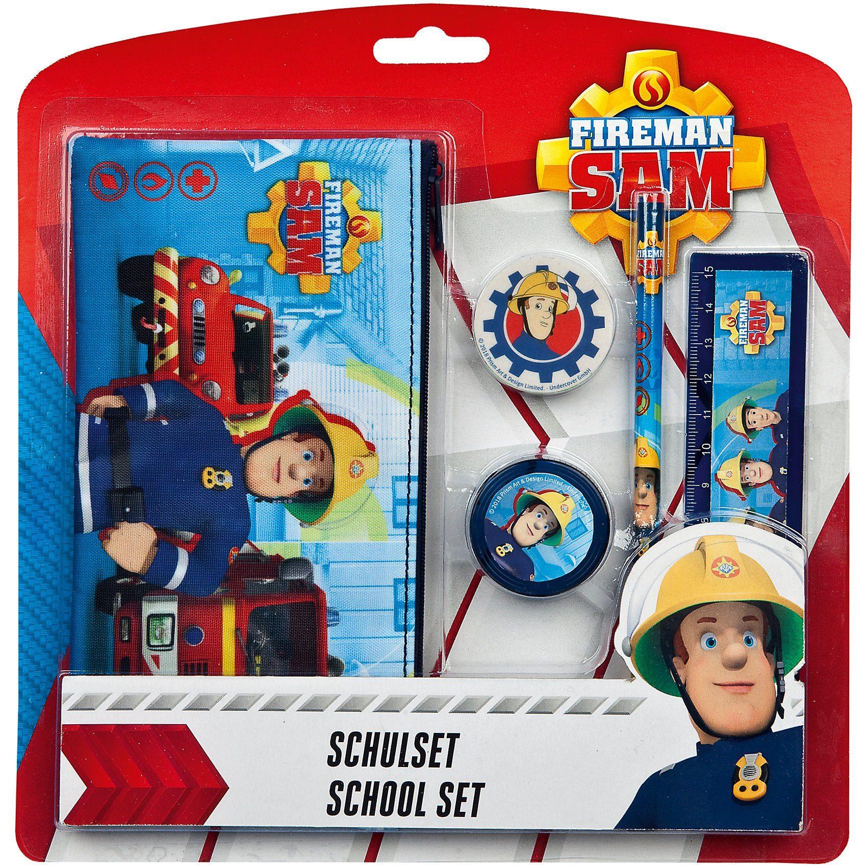 UNDERCOVER Schulset Feuerwehrmann Sam, 5-tlg.