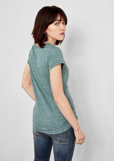 Q/S designed by Jerseyshirt mit Foil-Print
