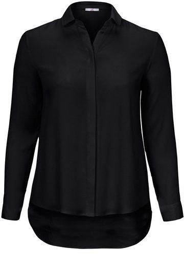 Emilia Lay Klassische Bluse mit Bubi-Kragen, Verlängerter Saum hinten