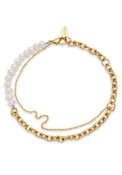 PAUL HEWITT Armband »Treasure Gold gemischte Kette, Treasure Gold Silber gemischte Kette, Treasure Silber gemischte Kette, PH003842, PH003843, PH003844«, mit Süßwasserzuchtperle