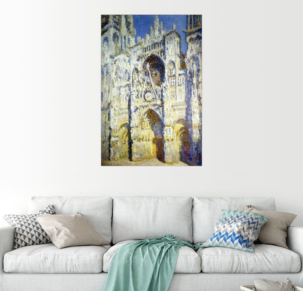 Posterlounge Wandbild - Claude Monet »Kathedrale von Rouen, Portal, mit Turm Saint-...«