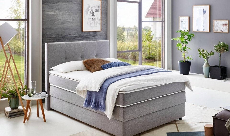 atlantic home collection boxspringbett mit bettkasten und. Black Bedroom Furniture Sets. Home Design Ideas