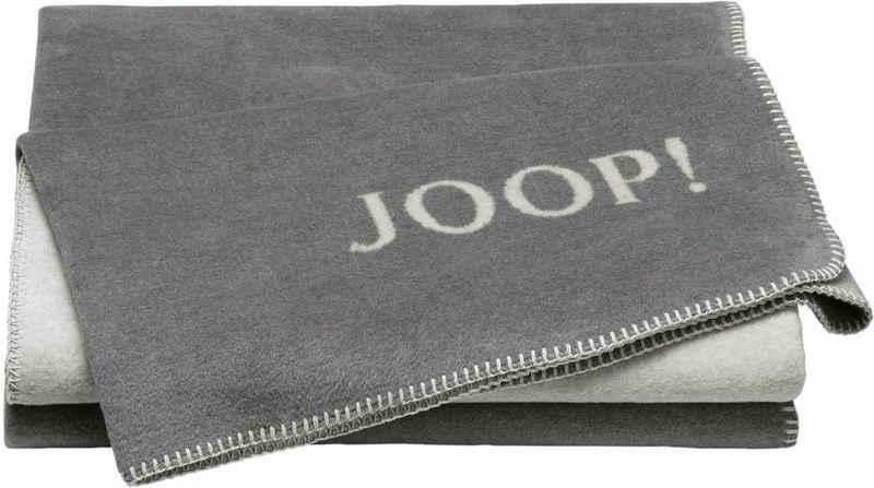 Wohndecke »JOOP! UNI-DOUBLEFACE«, Joop!, mit JOOP! Logo
