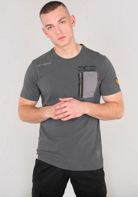 Herren Alpha Industries T-Shirt Utility Pocket T schwarz   04059146132027