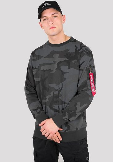 Alpha Industries Sweatshirt Blood Chit Print Sweater