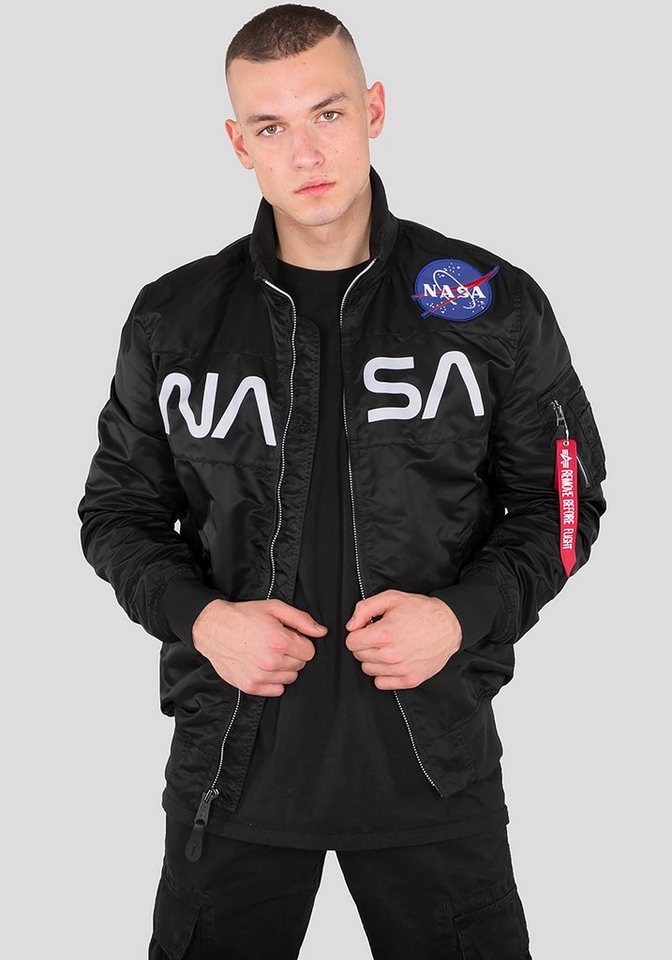 alpha industries bomberjacke nasa jacket flight nylon. Black Bedroom Furniture Sets. Home Design Ideas